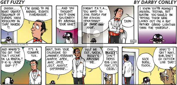 Get Fuzzy - Sunday June 14, 2009 Comic Strip