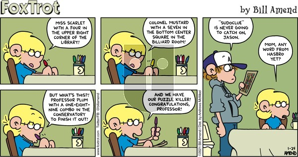 FoxTrot on Sunday January 24, 2021 Comic Strip