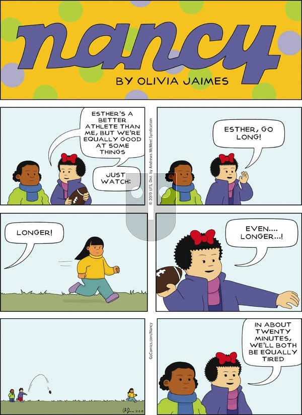 Nancy - Sunday December 8, 2019 Comic Strip