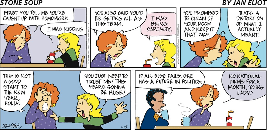 Stone Soup Comic Strip for January 15, 2017