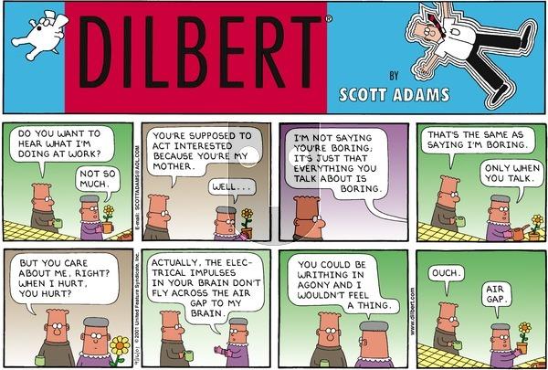 Dilbert - Sunday September 16, 2001 Comic Strip