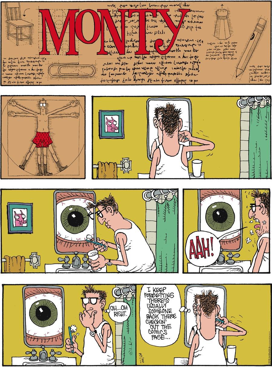 Monty for Mar 18, 2018 Comic Strip