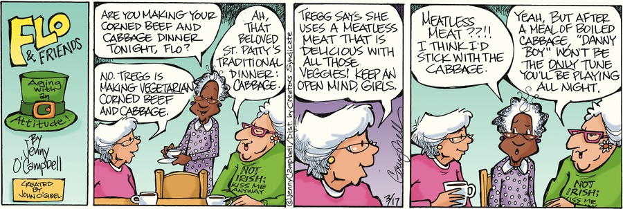 Flo and Friends Comic Strip for March 17, 2013