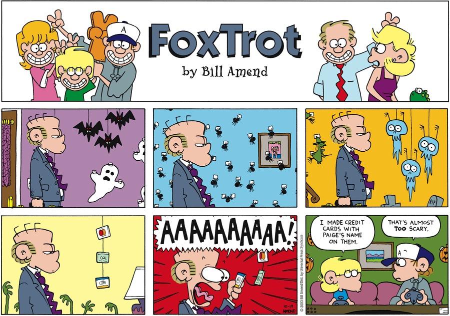 FoxTrot Comic Strip for October 19, 2003