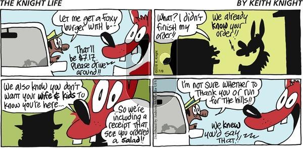 The Knight Life on Sunday July 8, 2018 Comic Strip