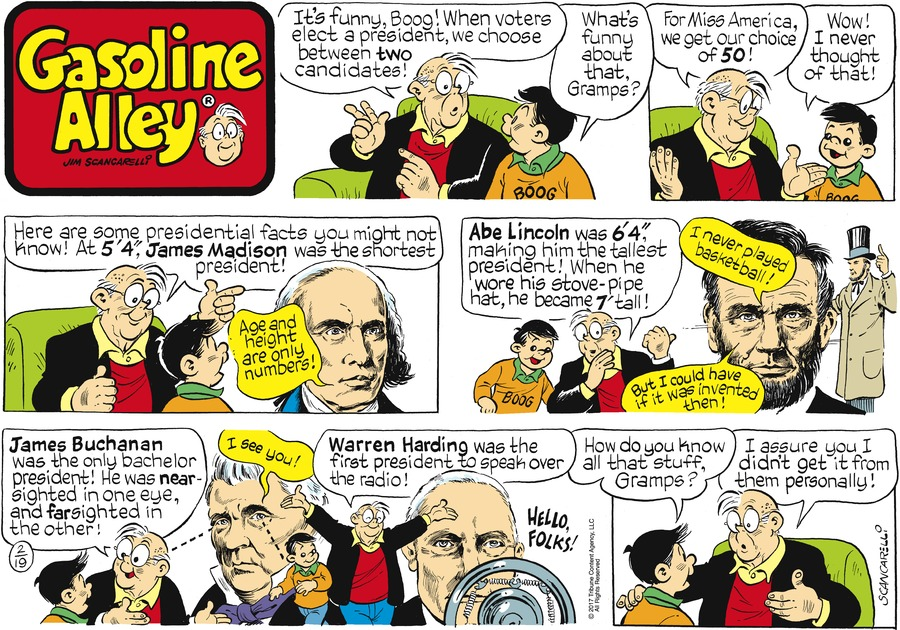 Gasoline Alley Comic Strip for February 19, 2017