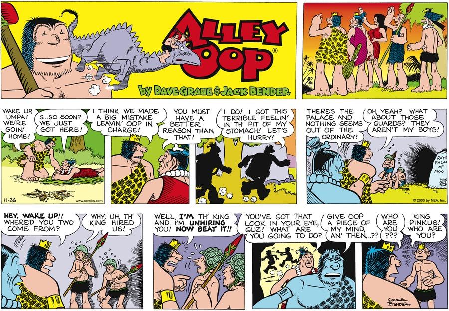 Alley Oop for Nov 26, 2000 Comic Strip