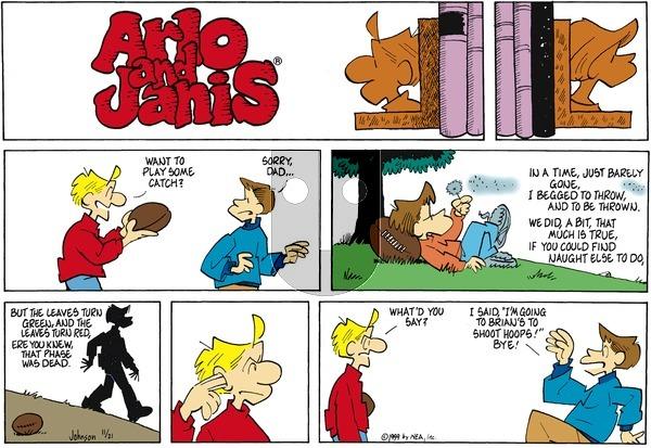 Arlo and Janis on Sunday November 21, 1999 Comic Strip