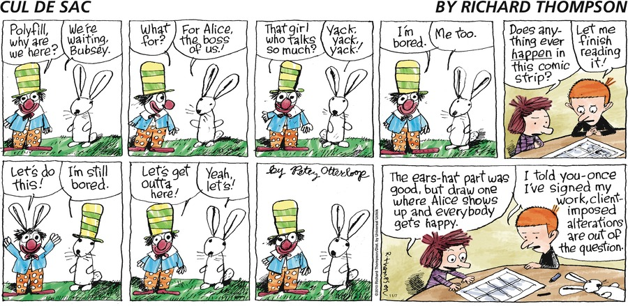 Cul de Sac Comic Strip for November 07, 2010