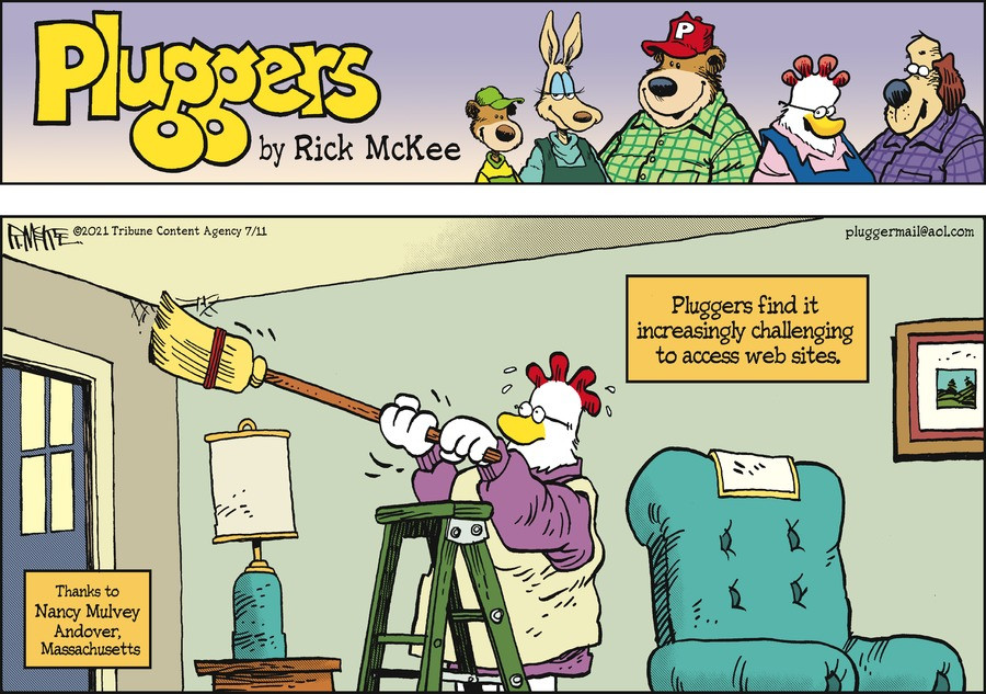 Pluggers Comic Strip for July 11, 2021