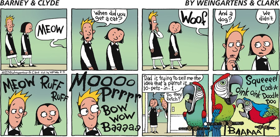 Barney & Clyde Comic Strip for February 09, 2014