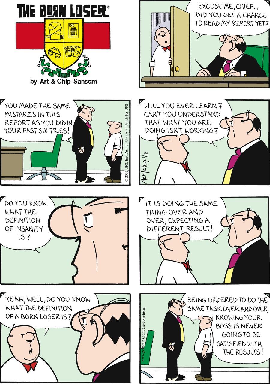 The Born Loser for Jan 18, 2015 Comic Strip