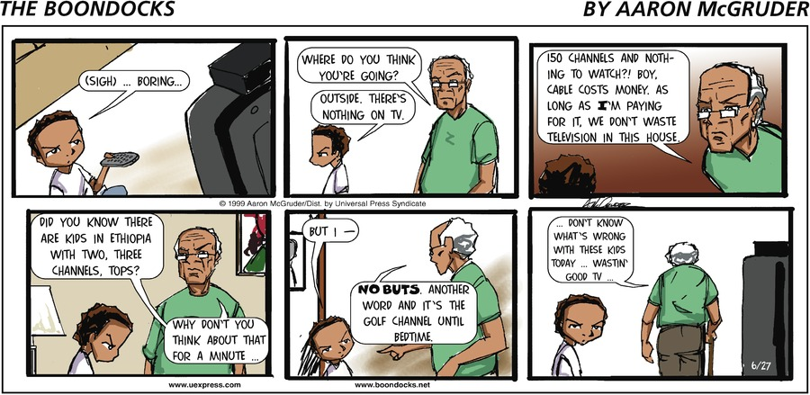 The Boondocks Comic Strip for June 27, 1999