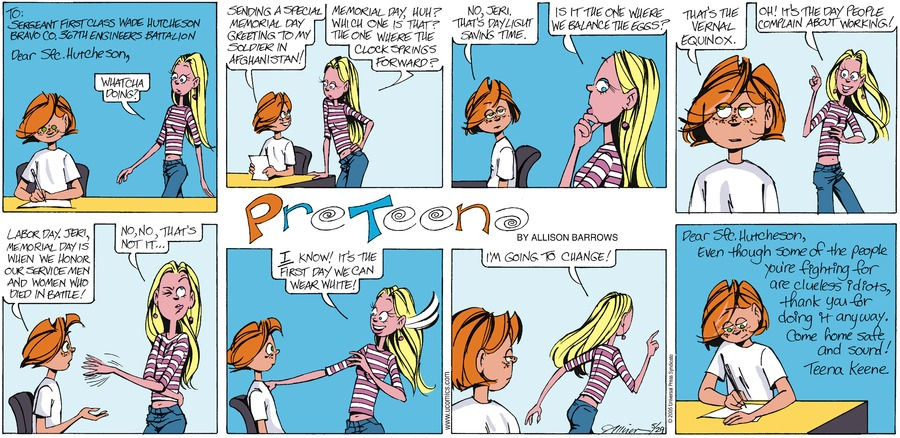 PreTeena Comic Strip for September 08, 2019