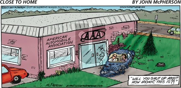 Close to Home on Sunday April 8, 2018 Comic Strip