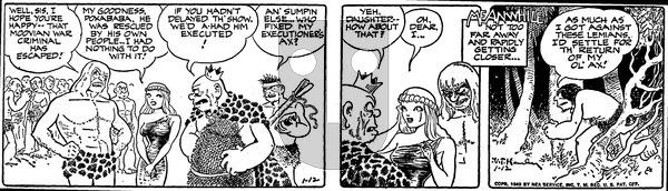 Alley Oop on Wednesday January 12, 1949 Comic Strip