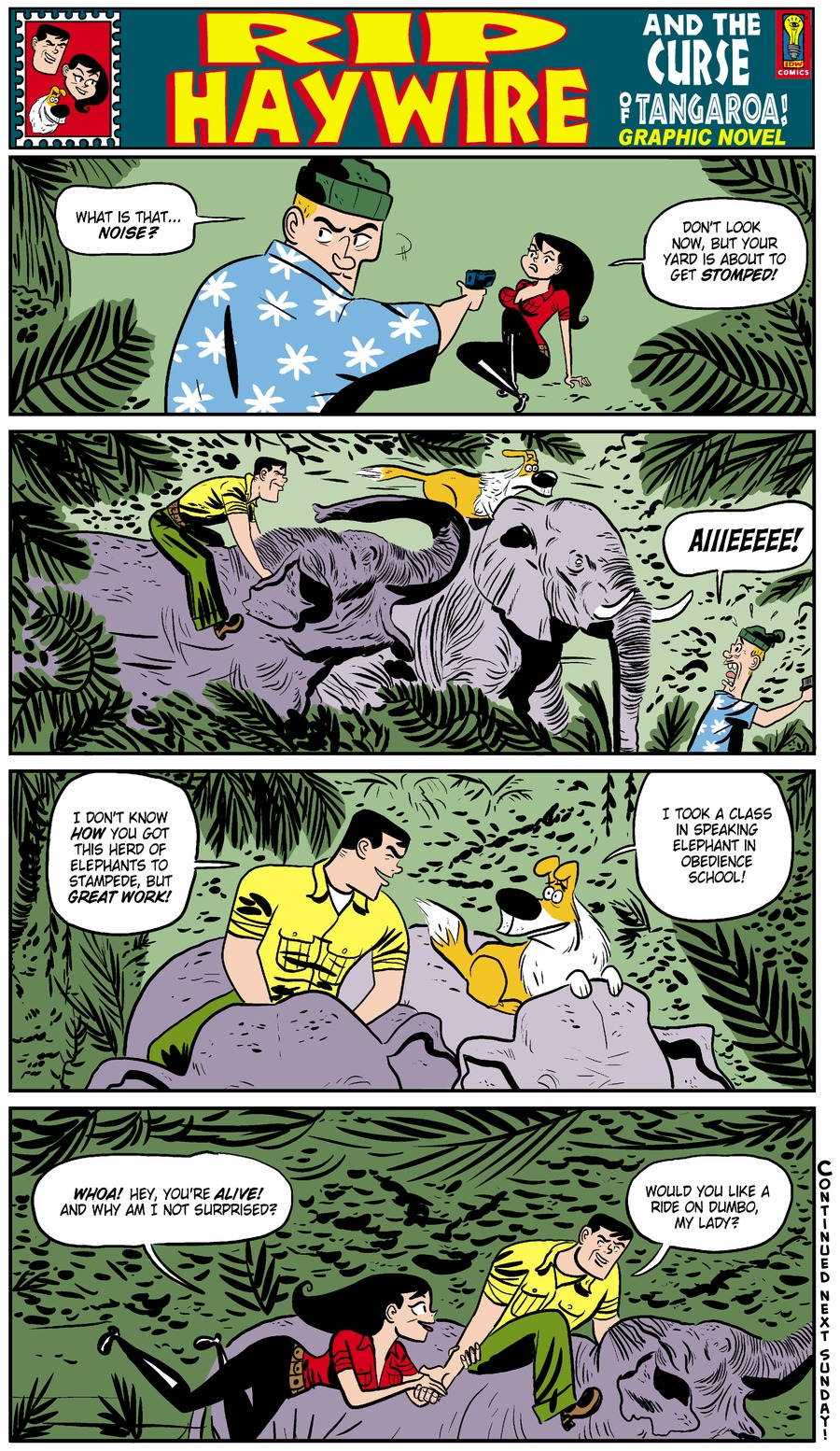 Rip Haywire Comic Strip for July 27, 2014