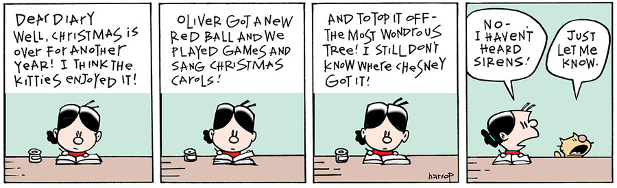 Ten Cats for Dec 27, 2013 Comic Strip