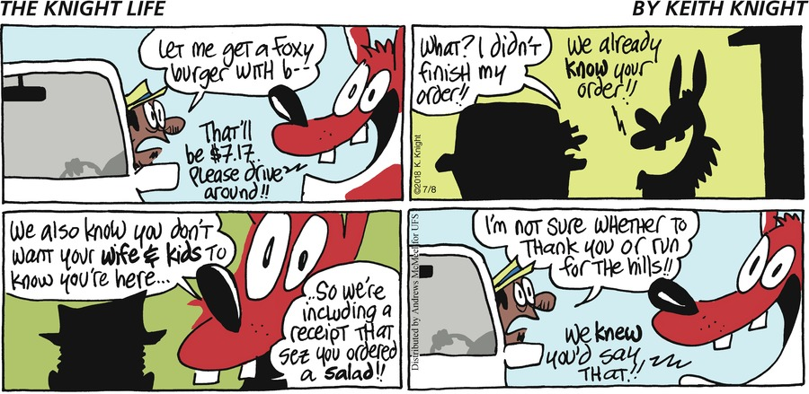 The Knight Life Comic Strip for July 08, 2018