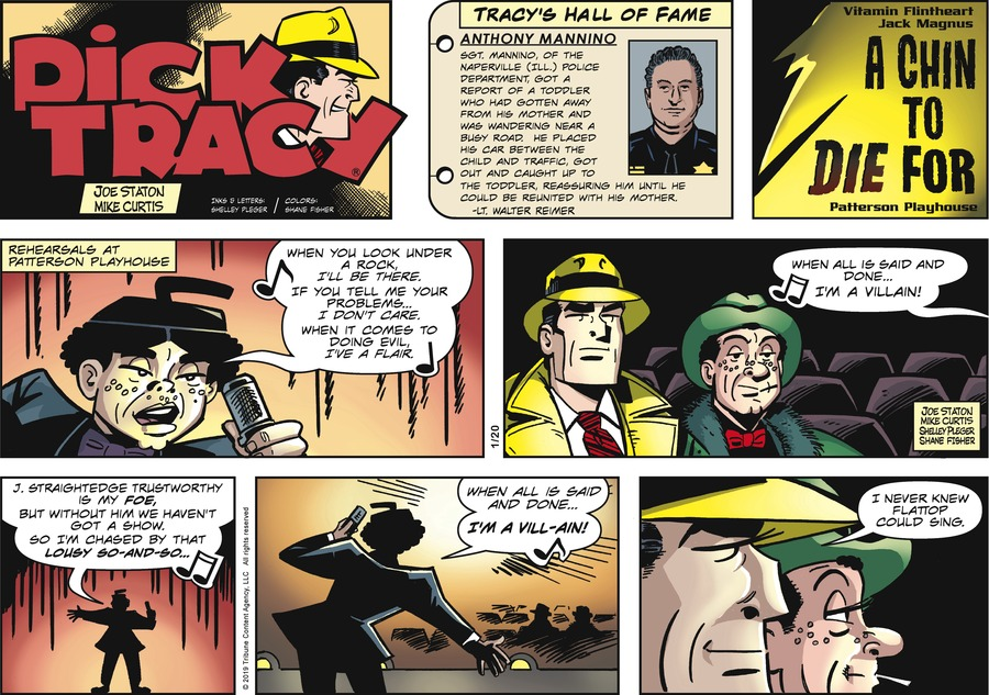 Dick Tracy by Joe Staton and Mike Curtis for January 20, 2019