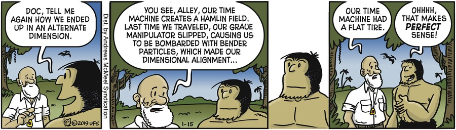 Alley Oop Comic Strip for January 15, 2019