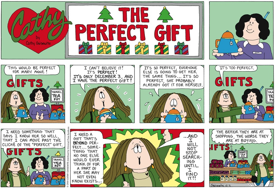 Cathy for Dec 4, 2011 Comic Strip
