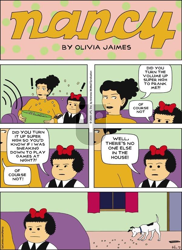 Nancy on Sunday April 12, 2020 Comic Strip
