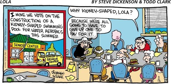 Lola on Sunday March 12, 2006 Comic Strip