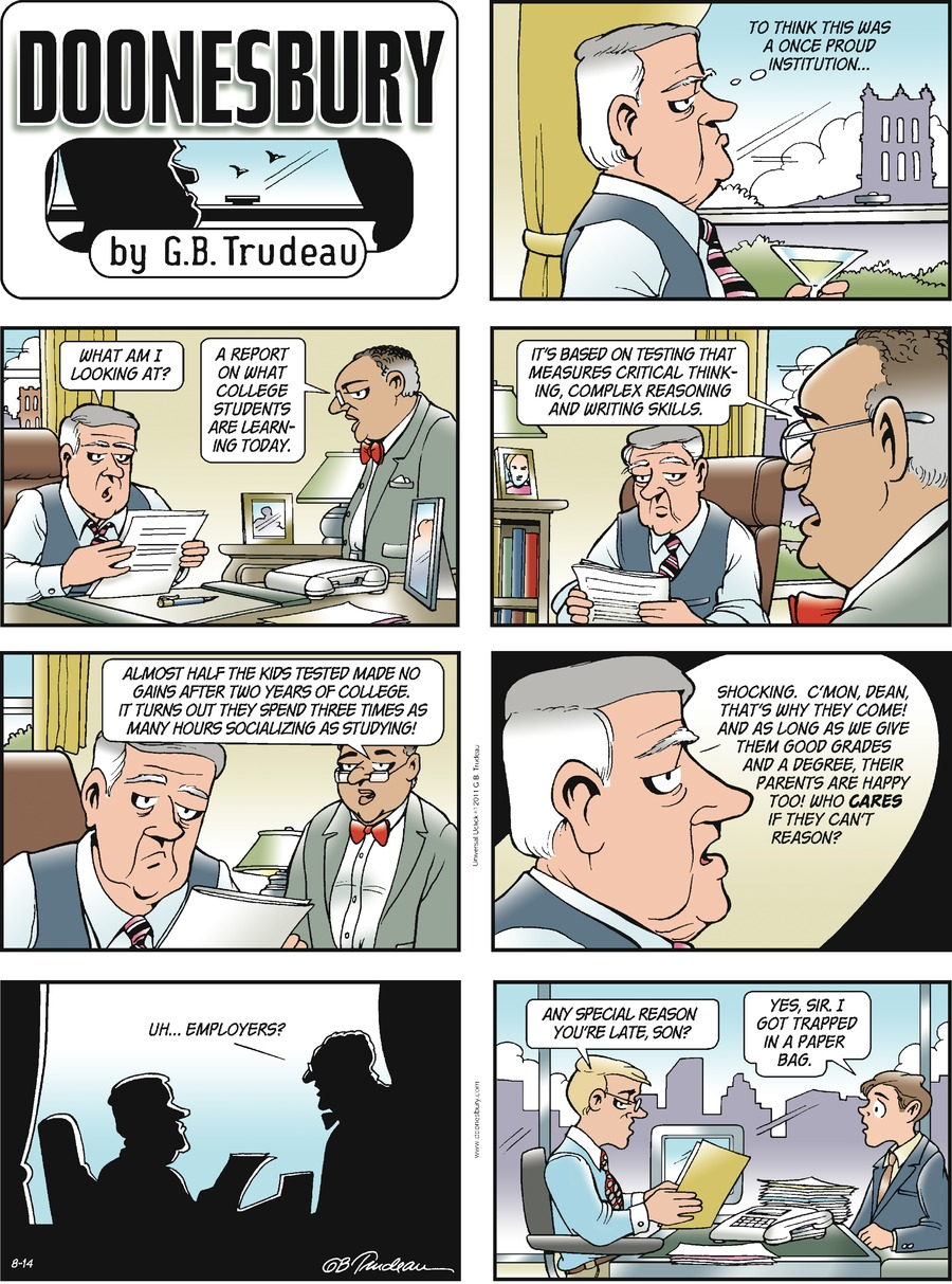 Doonesbury Comic Strip for August 14, 2011