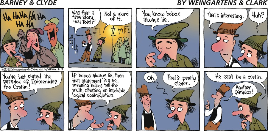 Barney & Clyde Comic Strip for August 18, 2013