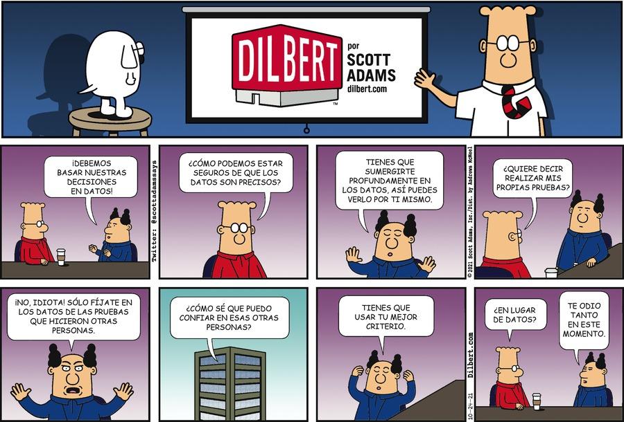 Dilbert en Español by Scott Adams on Sun, 24 Oct 2021