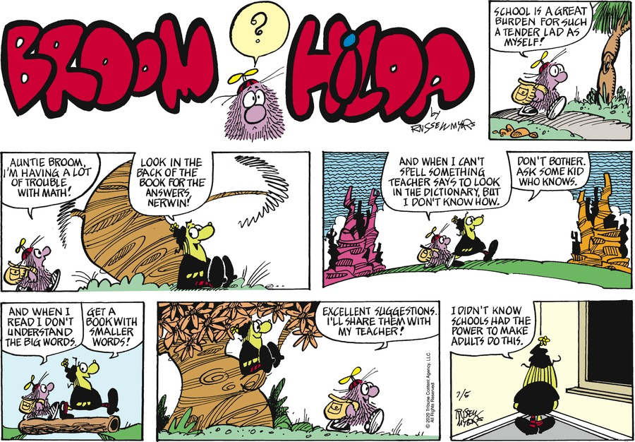 Broom Hilda by Russell Myers on Sun, 05 Jul 2020