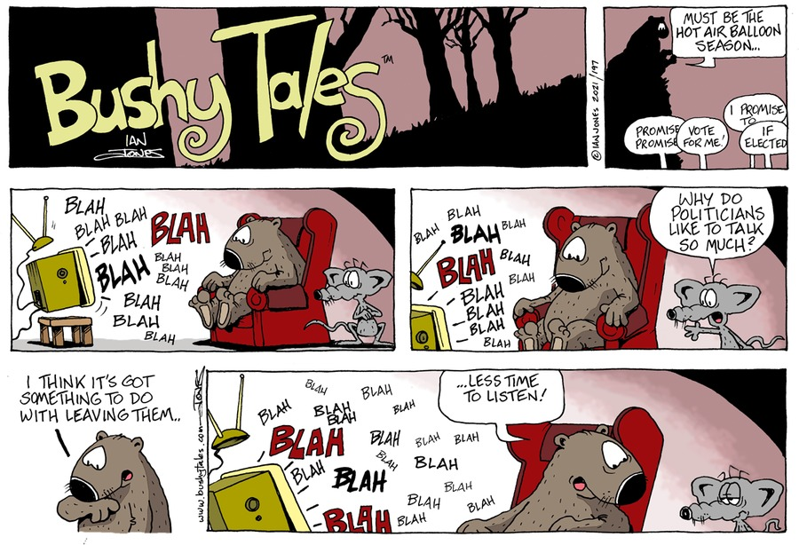 Bushy Tales by Ian Jones on Sun, 17 Jan 2021