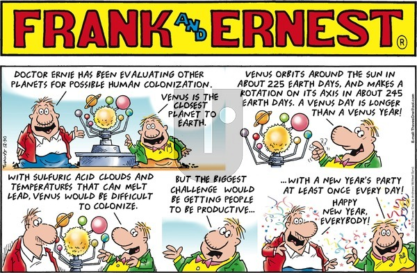 Frank and Ernest on Sunday December 30, 2018 Comic Strip