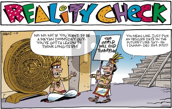 Reality Check on Sunday March 25, 2012 Comic Strip