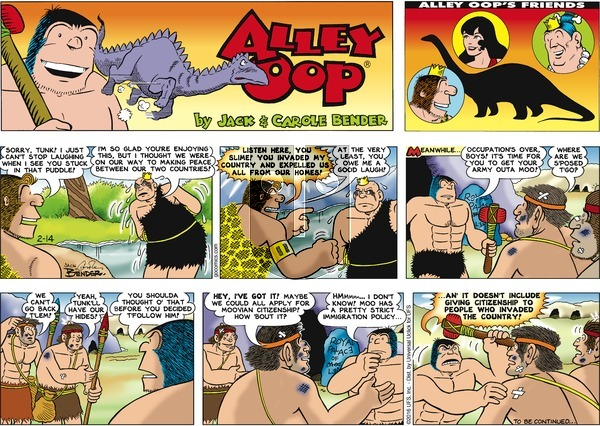 Alley Oop on Sunday February 14, 2016 Comic Strip