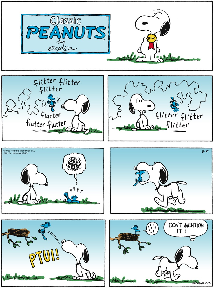 Peanuts Comic Strip for May 19, 2013