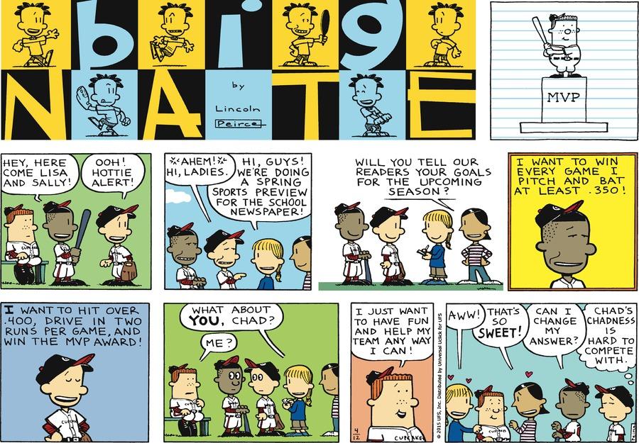 Big Nate Comic Strip for April 12, 2015