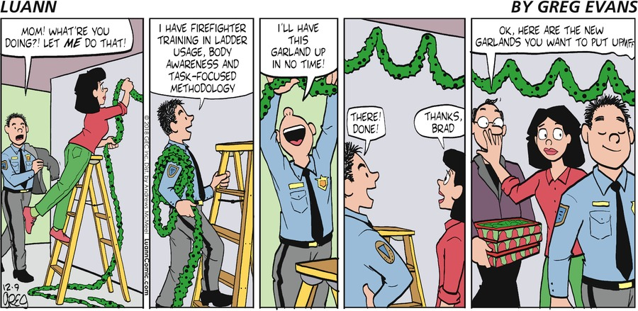 Luann Comic Strip for December 09, 2018