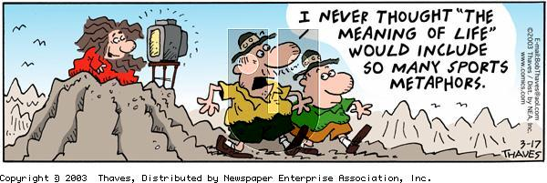 Frank and Ernest - Monday March 17, 2003 Comic Strip