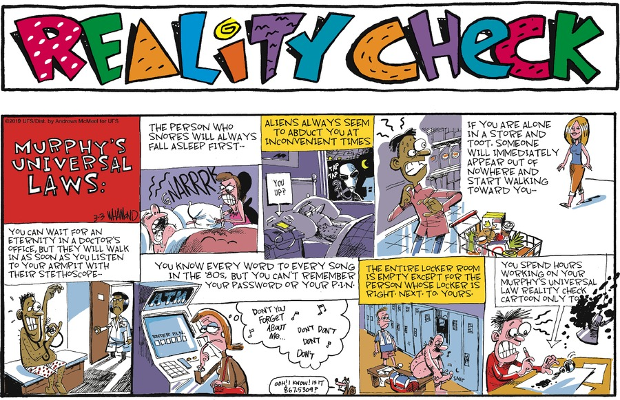 Reality Check Comic Strip for March 03, 2019