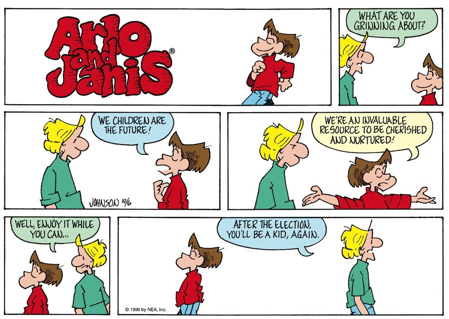 Arlo and Janis for Oct 6, 1996 Comic Strip