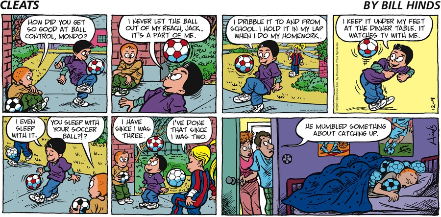 Cleats Comic Strip for December 09, 2001