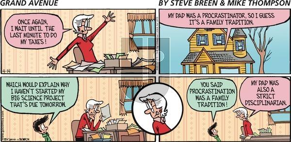Grand Avenue - Sunday April 14, 2013 Comic Strip