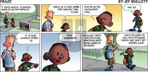 Frazz on Sunday July 1, 2012 Comic Strip