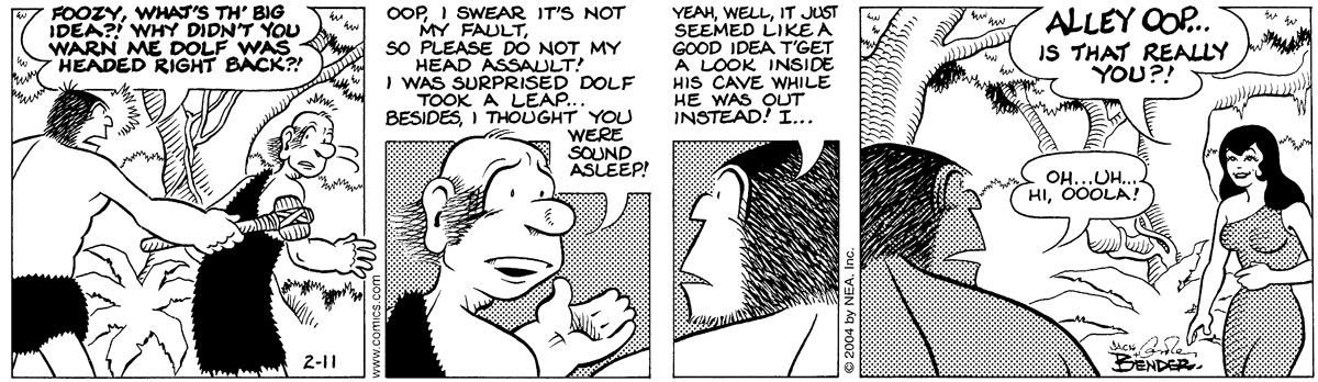 Alley Oop for Feb 11, 2004 Comic Strip