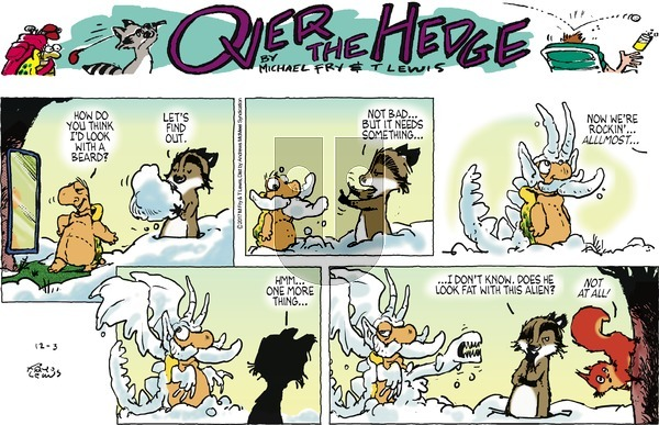 Over the Hedge on Sunday December 3, 2017 Comic Strip