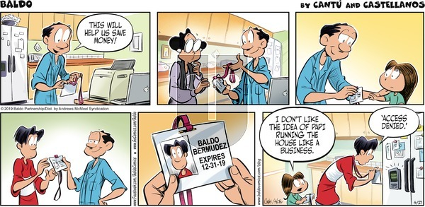 Baldo on Sunday April 21, 2019 Comic Strip