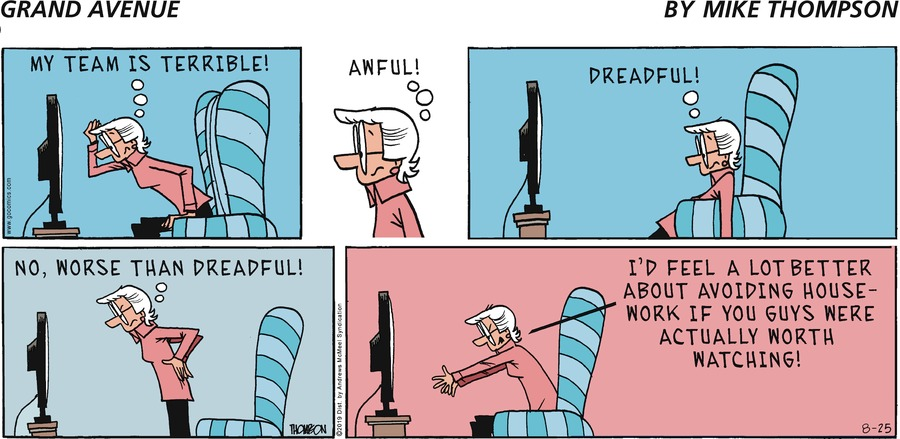 Grand Avenue Comic Strip for August 25, 2019