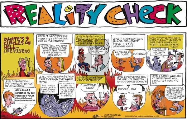 Reality Check on Sunday December 9, 2018 Comic Strip